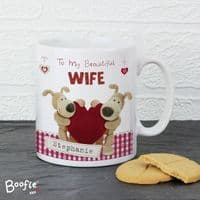 Personalised Boofle Shared Heart Mug - ideal gift for the one you love for Birthday, Valentine's Day or Anniversary